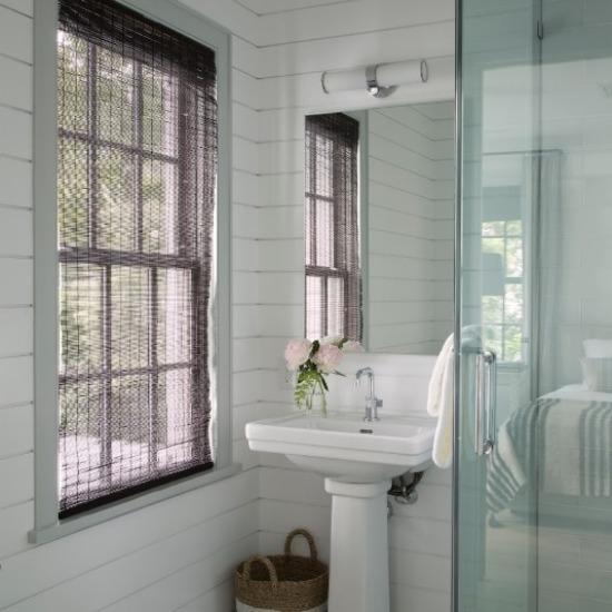 Guest bathroom at Valley Rock Inn & Mountain Club