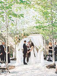New York wedding with a floral chuppah